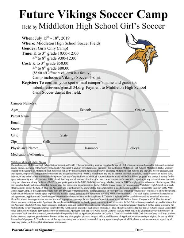 Future Vikings Soccer Camp